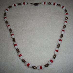 925 Silver & Milkglass Artisan Necklace